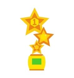 Star award cup vector