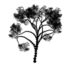 Stylized Tree Silhouette2 vector