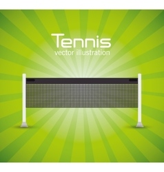 tennis net green bright background vector image