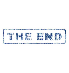 The end textile stamp vector