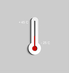 thermometer icon measuring hot and cold vector image