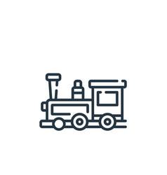 Train icon train editable stroke train linear vector