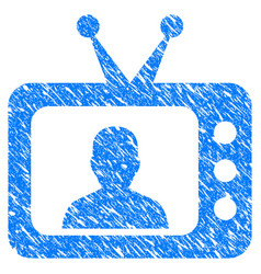 Tv speaker grunge icon vector