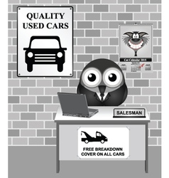 Used Car Showroom vector image