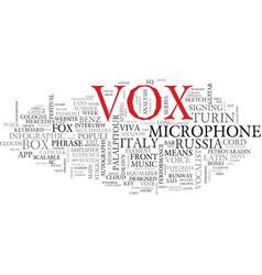 Vox word cloud concept vector