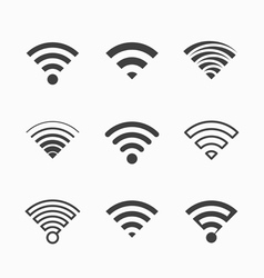 Wi-Fi icons vector image vector image