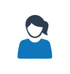 Woman icon vector