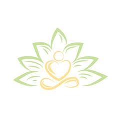 yoga abstract logo sign vector image