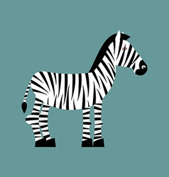 Zebra Wild animals of Africa Striped zebra Zebra vector image