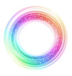 Abstract colorful smooth light circle background vector image