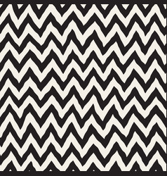 seamless wavy hand drawn stripes pattern vector image