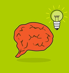 Brain and bulb vector image vector image