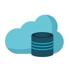 cloud data base technology vector image vector image