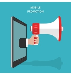 Mobile Promotion Flat Isometric Concept vector image vector image