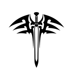 Tribal tattoo with sword vector image