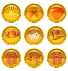 Buttons set holiday vector image