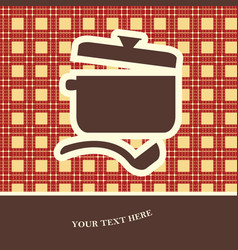 cookery card vector image vector image