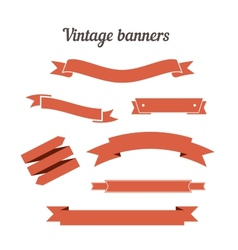 Retro styled ribbons collection vector image vector image
