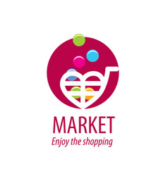 shopping logo vector image