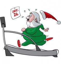treadmill santa vector image vector image