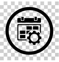 calendar settings rounded icon vector image