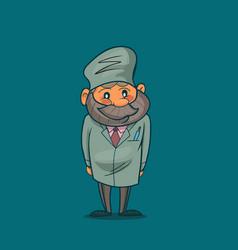 cartoon funny doctor vector image
