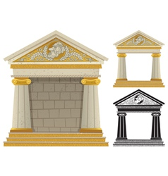 Greek Temple vector image vector image