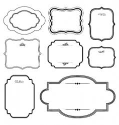 matching frames set vector image