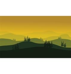 Morning at foggy Mountains vector image