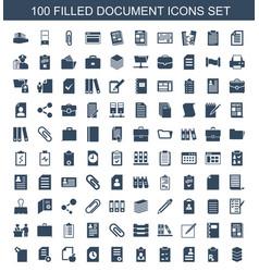 100 document icons vector