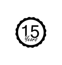 15 years anniversary sign element of anniversary vector image