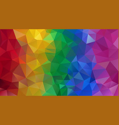 Abstract irregular polygon background rainbow vector