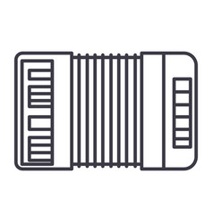 Accordion line icon sign on vector