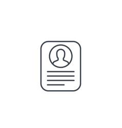 Account info profile card personal data icon vector