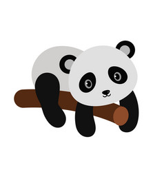 adorable panda in flat style vector image