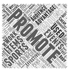 Advantages of Promotional products at sports vector