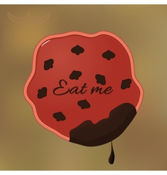 Alice Eat Me Cookie vector image