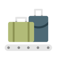 Baggage flat vector
