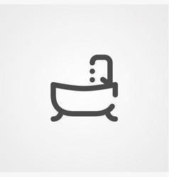 bathroom icon sign symbol vector image