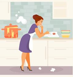 beginner housewife vector image