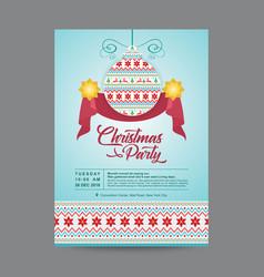Blue hanging christmas ornament postcard vector