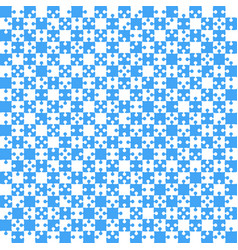 blue puzzle pieces jigsaw - - field chess vector image