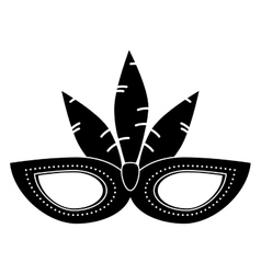 Brazil carnival mask feathers pictogram vector