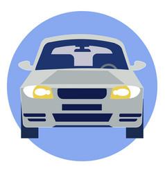 car logo rides in minimalist style cartoon flat vector image