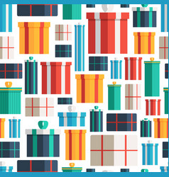 christmas gift boxes seamless pattern pattern of vector image