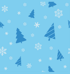 christmas seamless blue background for wrapping vector image