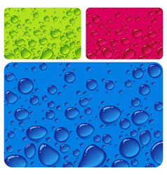 clear water drop color texture vector image