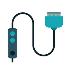computer cable connection plug vector image