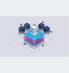 concept data network management vector image
