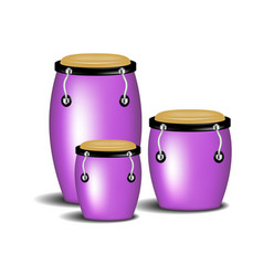 Congas band in purple design with shadow vector